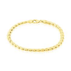 Bracelet Jany Maille Palmier Or Jaune - Bracelets mailles Femme   Marc Orian