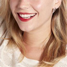 Bijoux D'oreilles Soliana Argent Blanc Oxyde De Zirconium - Boucles d'oreilles Ear cuffs Femme | Marc Orian