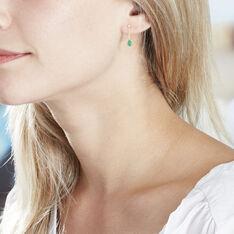Boucles D'oreilles Pendantes Goutte Or Jaune Emeraude - Boucles d'oreilles Pendantes Femme | Marc Orian