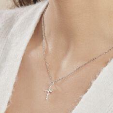 Collier Norine Argent Blanc Oxyde De Zirconium - Colliers Femme   Marc Orian