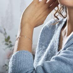 Bracelet Myosothis Plaque Or Oxydes De Zirconium - Bracelets chaînes Femme | Marc Orian