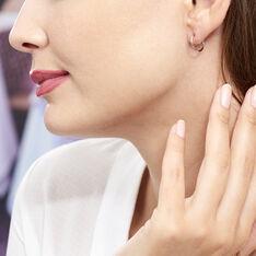 Créoles Dominae Flexible Rondes Or Rose - Boucles d'oreilles Créoles Femme   Marc Orian
