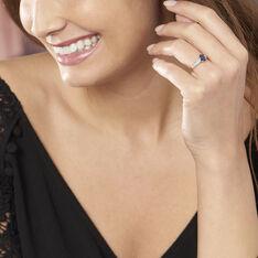Bague Crista Or Blanc Saphir Et Diamant - Bagues Solitaire Femme | Marc Orian
