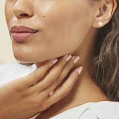 Boucles D'oreilles Puces Suki Rondes Nacres Or Jaune Perle De Culture - Clous d'oreilles Femme | Marc Orian