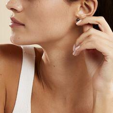 Boucles D'oreilles Puces Micaelle Teintees Or Jaune Perle De Culture - Clous d'oreilles Femme | Marc Orian