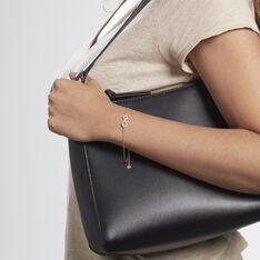Bracelet Amita Argent Rose Oxyde De Zirconium - Bracelets chaînes Femme   Marc Orian