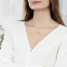 Collier Rejane Or Blanc Diamant - Colliers Femme | Marc Orian