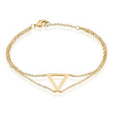 Bracelet Inna Plaque Or Jaune - Bracelets chaînes Femme | Marc Orian