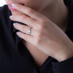 Bague Triptyque Or Blanc Diamant - Bagues fiançailles Femme | Marc Orian