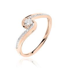 Bague Solitaire Sitan Or Rose Diamant - Bagues Solitaire Femme | Marc Orian