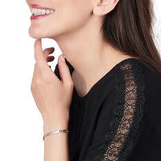 Bracelet Identité Orelineae Maille Alternee 1/2 Argent Blanc - Bracelets fantaisie Femme   Marc Orian