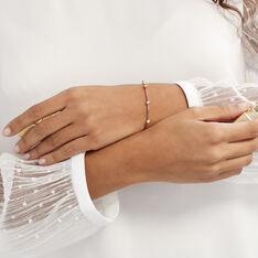 Bracelet Kaelig Plaque Or Jaune Oxyde De Zirconium - Bracelets chaînes Femme | Marc Orian