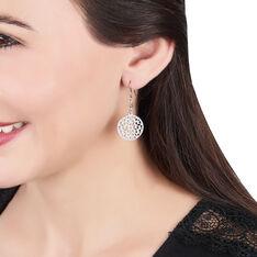 Boucles D'oreilles Pendantes Penelope Argent Blanc - Boucles d'oreilles Pendantes Femme | Marc Orian
