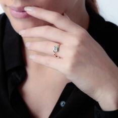 Bague Or Blanc Trilogie Diamants - Bagues fiançailles Femme   Marc Orian