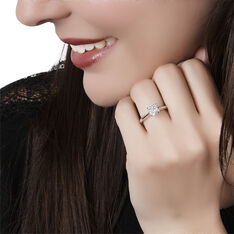Bague Dream Or Blanc Diamants Mm - Bagues Solitaire Femme | Marc Orian