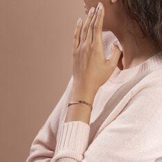 Bracelet Identité Carla Maille Gourmette Plaque Or Jaune - Bracelets chaînes Femme | Marc Orian