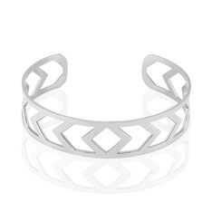 Bracelet Jonc Deanna Acier Blanc - Bracelets jonc Femme   Marc Orian