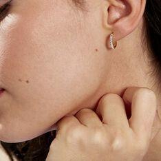 Créoles Sandrine Rondes Or Jaune Strass - Boucles d'oreilles Créoles Femme | Marc Orian