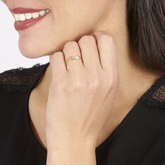 Bague Barrette Or Jaune Diamant - Bagues Femme | Marc Orian