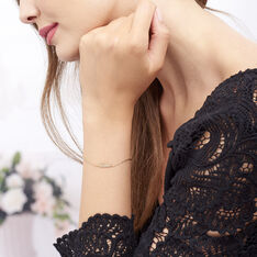 Bracelet Plaque Or Hanae Plume - Bracelets chaînes Femme | Marc Orian