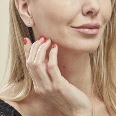Boucles D'oreilles Puces Lorena Argent Blanc Oxyde De Zirconium - Clous d'oreilles Femme | Marc Orian