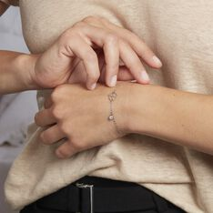 Bracelet Spirit Argent Blanc Oxyde De Zirconium - Bracelets chaînes Femme   Marc Orian