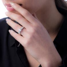 Bague Marilyn Argent Blanc Oxyde De Zirconium - Bagues Solitaire Femme   Marc Orian