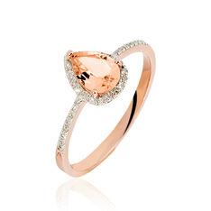 Bague Alice Or Rose Morganite Et Diamant - Bagues Femme   Marc Orian