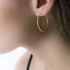 Créoles Valencina Flexibles Rondes Or Jaune - Boucles d'oreilles Créoles Femme | Marc Orian