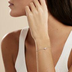 Bracelet Priscus Argent Blanc Oxyde De Zirconium - Bracelets chaînes Femme   Marc Orian