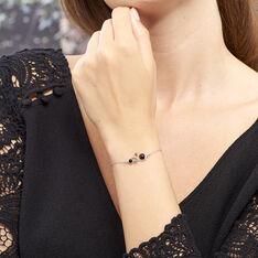 Bracelet Alexa Argent Blanc Ambre - Bracelets chaînes Femme | Marc Orian