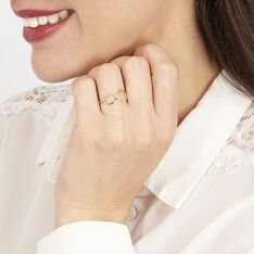 Bague Varina Or Jaune Diamant - Bagues Femme   Marc Orian
