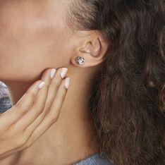 Boucles D'oreilles Puces Kanani Argent Blanc Perle De Culture - Clous d'oreilles Femme | Marc Orian