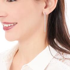 Boucles D'oreilles Pendantes Lou-anne Argent Blanc Oxyde De Zirconium - Boucles d'oreilles Pendantes Femme | Marc Orian