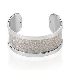 Bracelet Jonc Acier Blanc - Bracelets jonc Femme   Marc Orian