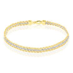 Bracelet Jerry Maille Corde 3 Rangs Or Bicolore - Bracelets Femme | Marc Orian