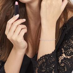Bracelet Ciana Torsade Diamante Argent Blanc - Bracelets fantaisie Femme | Marc Orian