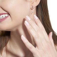 Boucles D'oreilles Pendantes Esia Argent Rose Oxyde De Zirconium - Boucles d'oreilles Pendantes Femme | Marc Orian