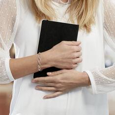 Bracelet Adjara Argent Blanc Oxyde De Zirconium - Bracelets chaînes Femme | Marc Orian