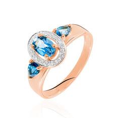 Bague Arleen Or Rose Topaze Diamant - Bagues Femme | Marc Orian
