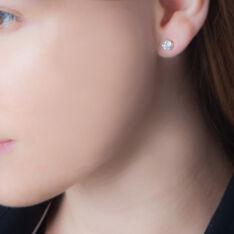 Boucles D'oreilles Or Jaune Puce Oxyde - Clous d'oreilles Femme | Marc Orian