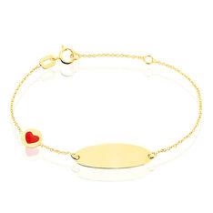Bracelet Identite Bebe Ema Or Jaune - Gourmettes Enfant | Marc Orian