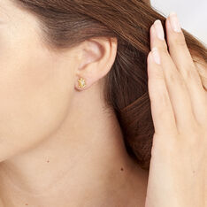 Boucles D'oreilles Puces Almahae Tortue Or Jaune - Clous d'oreilles Femme | Marc Orian