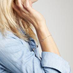 Bracelet Melanie Argent Blanc - Bracelets chaînes Femme | Marc Orian