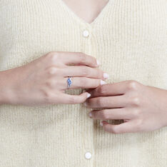 Bague Anisse Or Blanc Saphir Diamant - Bagues Femme | Marc Orian