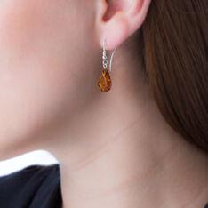 Boucles D'oreilles Argent Pendantes Ambre - Boucles d'oreilles Pendantes Femme | Marc Orian