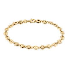 Bracelet Capucine Maille Grain De Cafe Plaque Or Jaune - Bracelets fantaisie Femme | Marc Orian