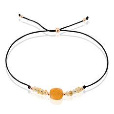 Bracelet Abinaya Argent Rose Citrine - Bracelets fantaisie Femme | Marc Orian