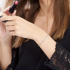 Bracelet Melodie Argent Blanc - Bracelets chaînes Femme | Marc Orian