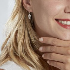 Boucles D'oreilles Pendantes Arbre De Vie Argent Blanc - Boucles d'oreilles Pendantes Femme   Marc Orian